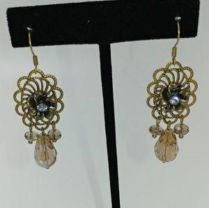 NWT TeSori Antiqued Flower Earrings